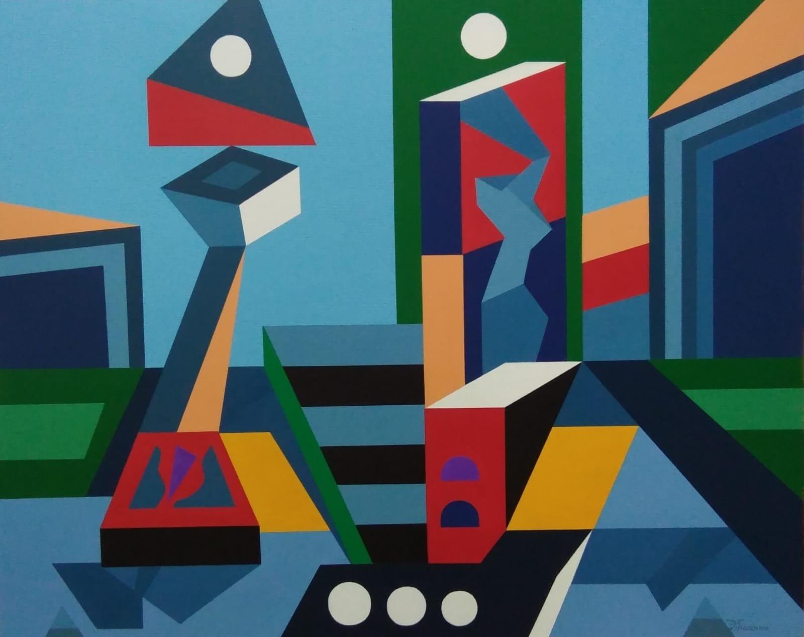 64079a6e2b Sono molteplici, dunque, le intuizioni e le sollecitazioni filosofiche che  questo artista propone dietro una pittura policromatica di 'schema'.